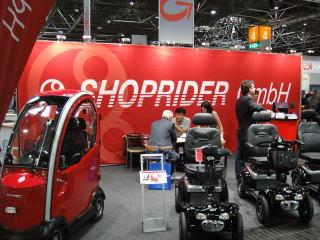 日本でもおなじみのショップライダーはドイツの代理店が出展。