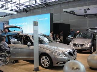 アウディ、メルセデスなどの福祉車両も数多く展示されていました。