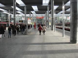 路面電車が展示会開場まで乗り入れていてアクセス◎でした