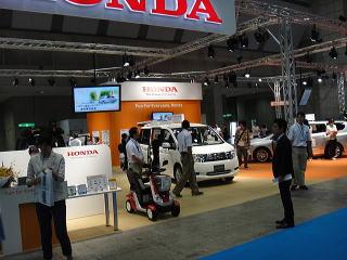 ホンダさんは福祉車両とモンパルを展示。
