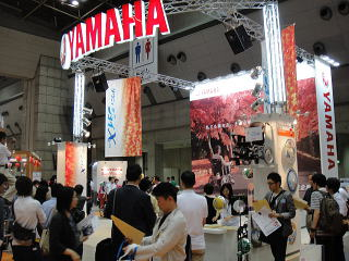 ヤマハ発動機さん。商品デモンストレーション中で 展示品ほとんど写ってません。すみません。