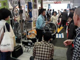 カワムラサイクル様は車いすのメンテナンスについて、講習会を開かれていました。