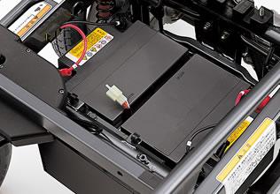 メンテナンスのいらない高性能シールドバッテリーを搭載。