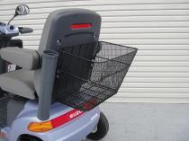 セニアカー用ステッキホルダー取付プレート取り付けイメージ